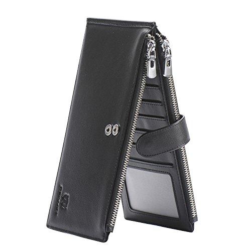 Unisex Soft Leather Wallet (Black) - 2