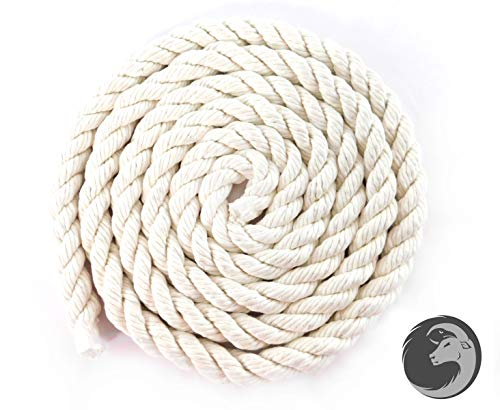 Crafts White Knotting Pet Toys Macram/é 3//8 in x 25 ft Baker /& Butchers Twine |USA Made Natural Cord Ravenox 100/% Cotton Twisted Rope |