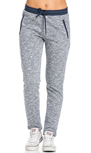 Faux Leather Detail Banded Drawstring Jogger Pants in Navy Blue