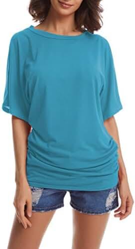 Short Sleeve Dolman Top for Women