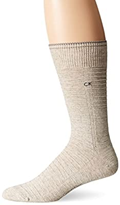 Calvin Klein Men's Linen Textured Crew Sock
