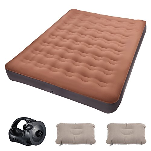 TOPELEK Camping Air Mattress, Queen Size Outdoor Air Mattres