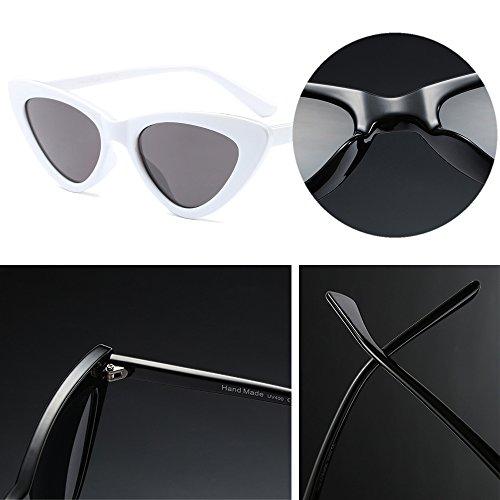 A Gafas Marco Retro Moda Style de 6 Cadena de con Sol Triángulo Mujer BOZEVON Pequeño IOHBqxFa