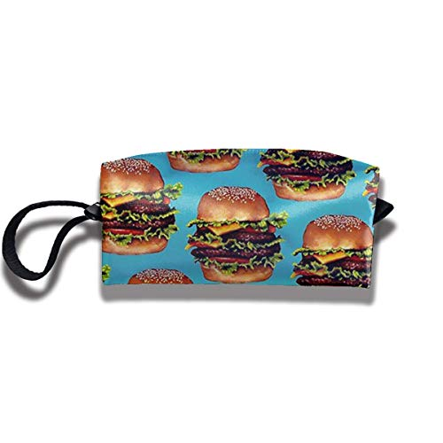 XYDQ Beef Hamburger Portable Waterproof Thick Organizer Storage Bag,Travelling Bag,College Carrying Bag,Camping Bag for Christmas,Festival Decorations,Washable
