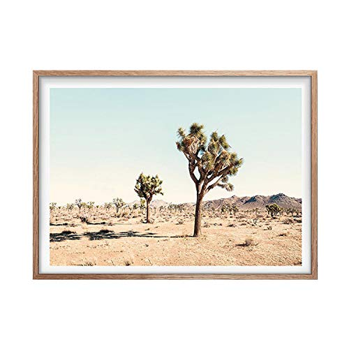 Used, Be fearless Joshua Tree Cactus Poster Print California for sale  Delivered anywhere in USA