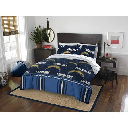 Diego Set Bedding - Official San Diego Chargers Queen Bed in Bag Set