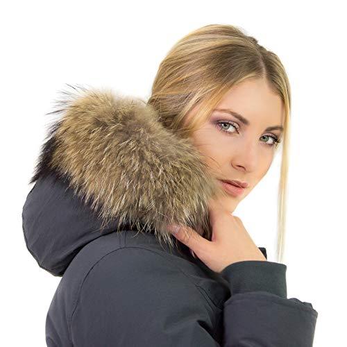 Ikonit Taglie 42 Murmasky Impermeabile Pelliccia Invernale Cappuccio Giacca Con Donna Grigio 50 Parka Slim Piumino rgOq7wr4