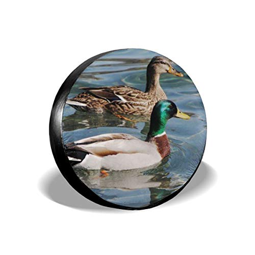 - Beach Surfers Spare Tire Cover Blue Animals Mallard Ducks Wild Birds Nature Photograph Spare Tire Covers Waterproof Dust-Proof Universal Spare Wheel Tire Covers Fit for Trailer RV SUV Truck 14 Inch