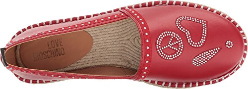 Love Moschino Women's Espadrille w/Studded Detail Red 37 M EU by Love Moschino (Image #1)