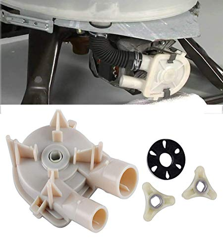 (Podoy WP3363394 Washer Drain Pump for Whirlpool Kenmore 3363394 with 285753A Washer Motor Coupler Estate Roper KitchenAid Replaces 3352492 3348215 3348014 3363394 3348015 WP3363394 AP6008107)