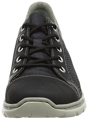Rieker Kvinners D3704-90 Lav-top Sneakers Svart