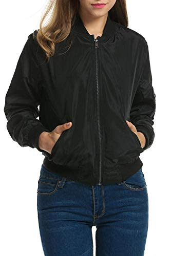 Schwarz Primaverile Style Donna Outwear Lunghe Jacket Giacca Autunno Fashion Libero Festa Tempo Ragazze Elegante College Zip Corto Pilot Giacche Baseball Maniche dRzwqEE