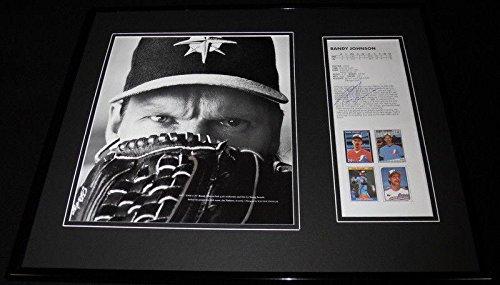 Randy Johnson Autographed Photograph - Framed 16x20 Set Mariners - Autographed MLB (Randy Johnson Autograph Framed Photo)