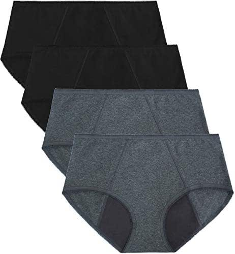 TUTUESTHER Underwear for Womens High Waistd Panties Postpartum Cotton Full Briefs 4pack