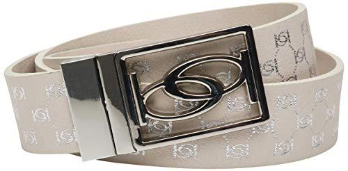 'Bebe Women\'s Reversible Belt with Logo Buckle, Silver, Size ()
