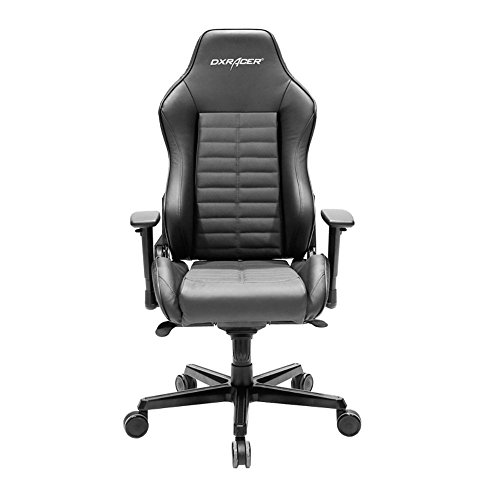 DXRacer Drifting Series DOH/DJ188/N Full Grain Leather Racing Bucket Seat Office Chair Gaming Chair Ergonomic Computer Chair eSports Desk Chair Executive Chair Furniture with Free Cushions ()