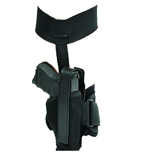 BlackHawk Plain Black Right Hand Ankle Holster - 2in BBL 5 Shot Revolvers w/ Hammer 40AH00BK-R from BlackHawk