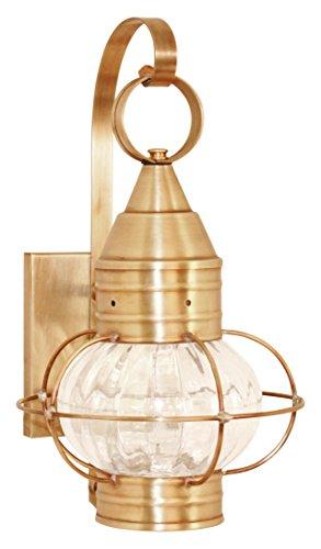 Brass Traditions 631-OPT-DB Small Onion Wall Lantern Optic Globe, Dark Brass Finish Optic Globe Onion Wall Lantern ()