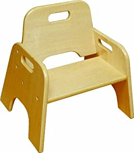 ECR4Kids 6  Stackable Wooden Toddler Chair Natural (2-Pack)  sc 1 st  Amazon.com & ECR4Kids 6