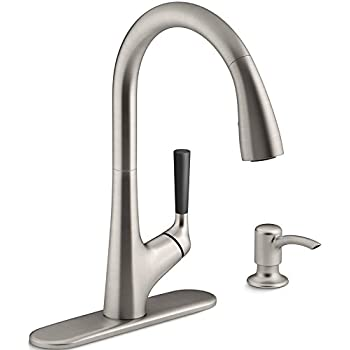 kohler kr562sdvs pulldown kitchen sink faucet with soaplotion dispenser vibrant stainless