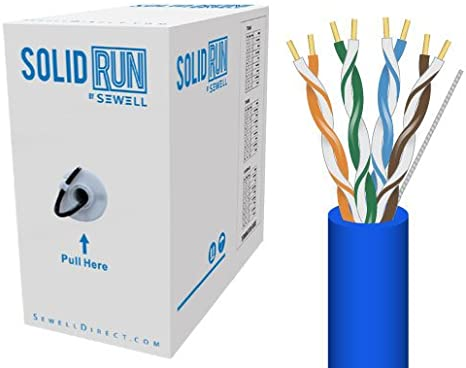 Sewell Direct SW-29875-502 SolidRun by Sewell Cat5e Bulk Cable Blue 500-Feet