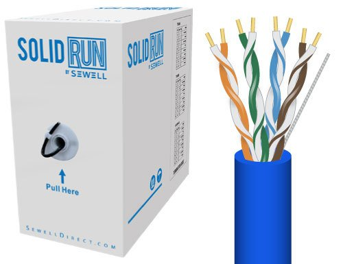 Sewell Direct SW-29875-502 SolidRun by Sewell Cat5e Bulk Cable, 500-Feet, Blue