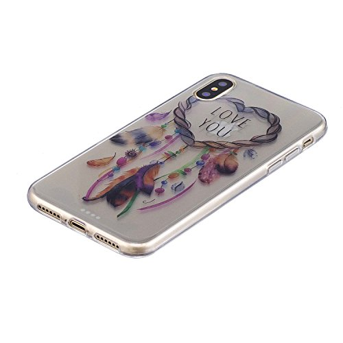 iPhone X Hülle Traumfänger Premium Handy Tasche Schutz Transparent Schale Für Apple iPhone X / iPhone 10 (2017) 5.8 Zoll + Zwei Geschenk