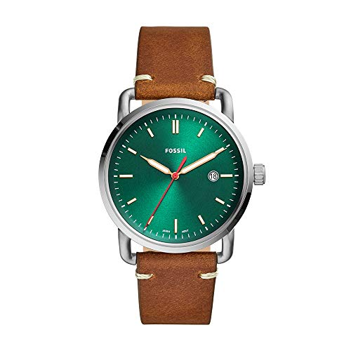 Fossil Men's The Commuter - FS5540 Green One Size (Fossil Watch With Green Face)