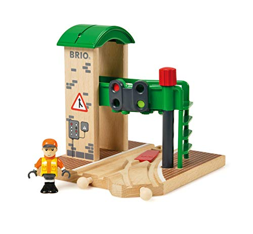 BRIO World - 33674 Signal Station | 2 Piece Toy Train Accessory for Kids Ages 3 and Up