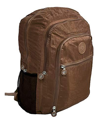 Mochila Feminina Fashion Bag Style Em Crinkle Várias Cores (MARROM)