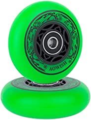 AOWISH Ripstik Wheels [2-Pack] 76mm Ripstick Wheels 90A Razor Ripsurf Caster Board Replacement Wheel with Pre-