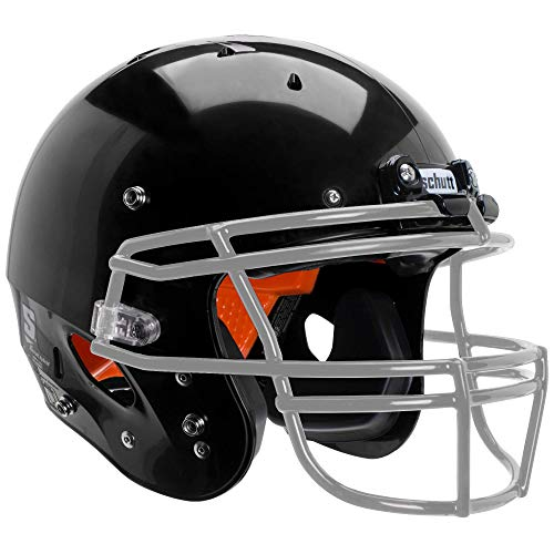 - Schutt Sports Recruit Hybrid Youth Football Helmet (Facemask NOT Included), Black, Small
