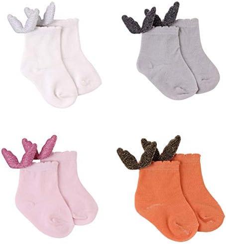 Amorar 4 paar babysokken katoen voor kinderen van 0 tot 2 jaar oud jongens en meisjes