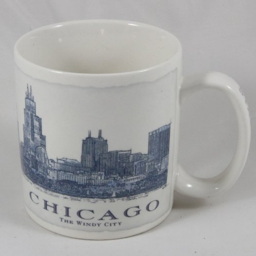 Starbucks Coffee 2006 Chicago Architect Mug 18 oz.