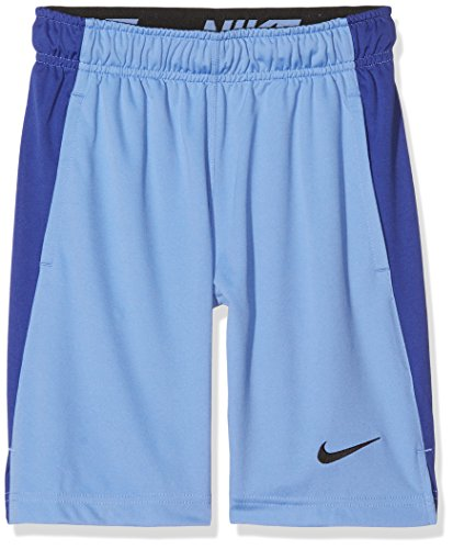 Nike B Nk Dry Short Pantalón Corto, Niños, Gris (Grey Heather/Ghost Green/Black), XS azul (polar/deep night/black)