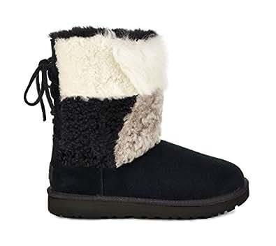 4455d99352a Amazon.com | UGG Classic Short Patchwork Fluff Women's Boot | Mid-Calf
