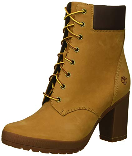 Timberland Women's Camdale 6in Boot Fashion, Wheat Nubuck, 8.5 M US (Ladies Heel Boots)