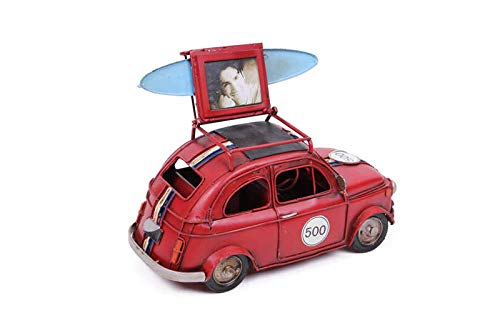MNK Home Decorative Diecast Car - Made from Metal - Mini Cooper Car with Picture Frame - Ideal for Home Decor & Party Favor for Friends & Family Members, Red by MNK Home
