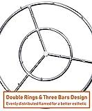 "GASPRO 24"" Round Jet Burner Ring for Natural Gas or"