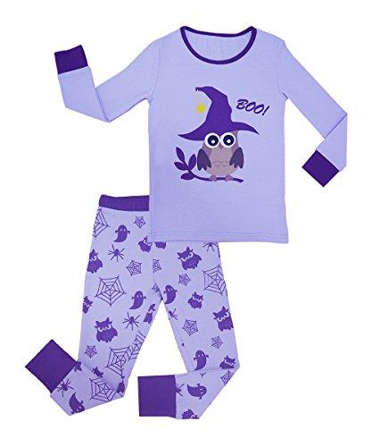 MAI CHUS Little Girls Halloween Pajamas Set 100% Cotton Toddler Two Piece Pjs Sleepwear Clothing Sets Size 3T