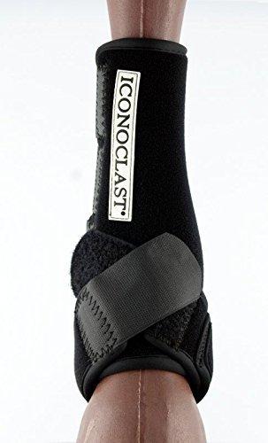 Iconoclast Orthopedic Support Boots - Hind Legs (Black, Medium)