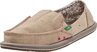 Sanuk Women's Donna Hemp Flat (38 M EU / 7 B(M) US, Natural)