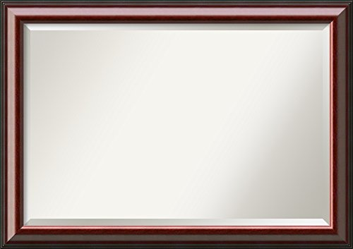 Framed Mirrors for Wall | Cambridge Mahogany Mirror for Wall | Solid Wood Wall Mirrors | Large Wall Mirror 40.50 x 28.50