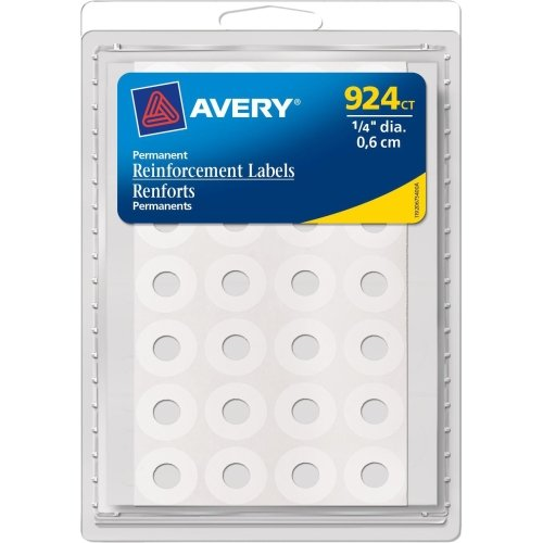 Avery Permanent Reinforcement Label - 0.25