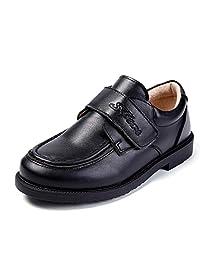Minibella Boys Leather Oxford School Uniform Dress Shoes