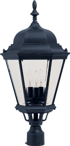 - Maxim Lighting 1007BK Westlake 3-Light Post Mount, Black