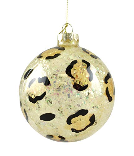 Party Explosions Leopard Print Glass Ball Hanging Ornament]()