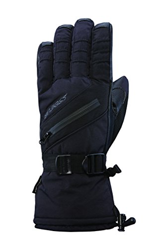 Seirus Innovation Men's Heatwave Plus Daze Cold Weather Waterproof Gloves, Black, Large (Plus Black Gloves)