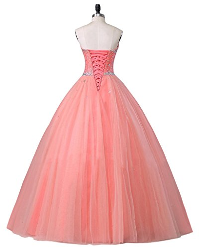 Gown Light Sweetheart Quinceanera Blue Prom Tulle Women's Beautyprom Ball Dress Dresses HxngzzUW