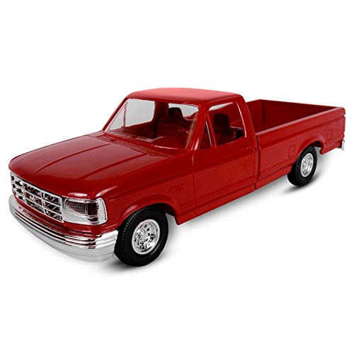 - ERTL AMT 1994 Ford F150 Pickup XLT, 1:25 Scale, Crimson Red. Plastic ERTL Promo Collectors Item.
